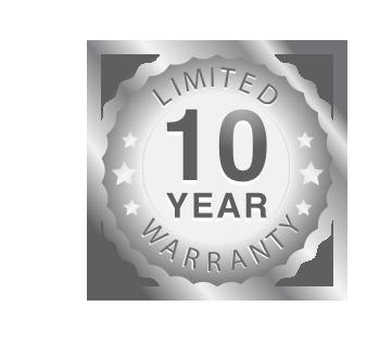 10 Year Parts Warranty